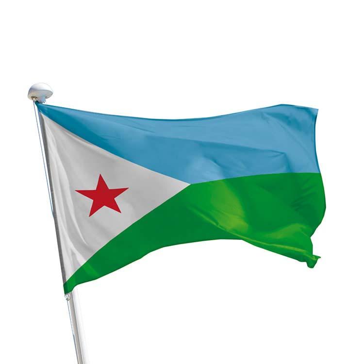 Drapeau Djibouti pour mât