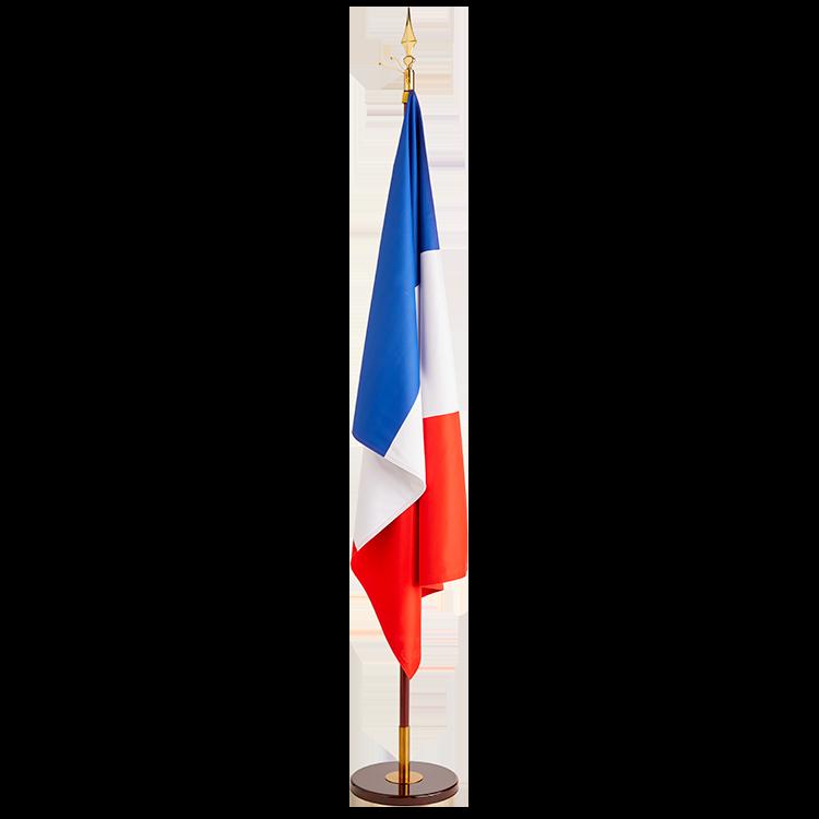 Drapeau France sur socle