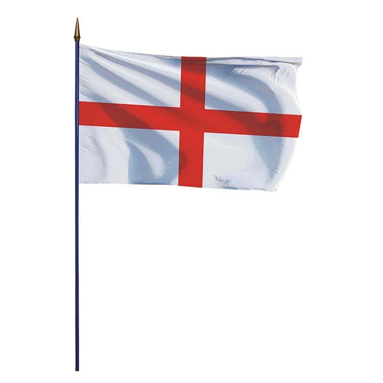 Drapeau de l'Angleterre sur hampe