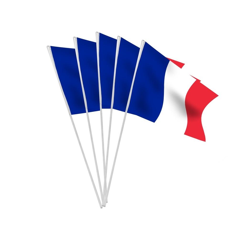 Lot de 10 drapeaux Français de supporter en papier