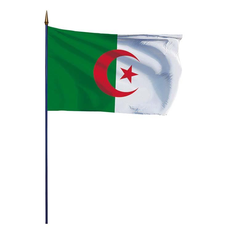 Drapeau Algérie sur hampe