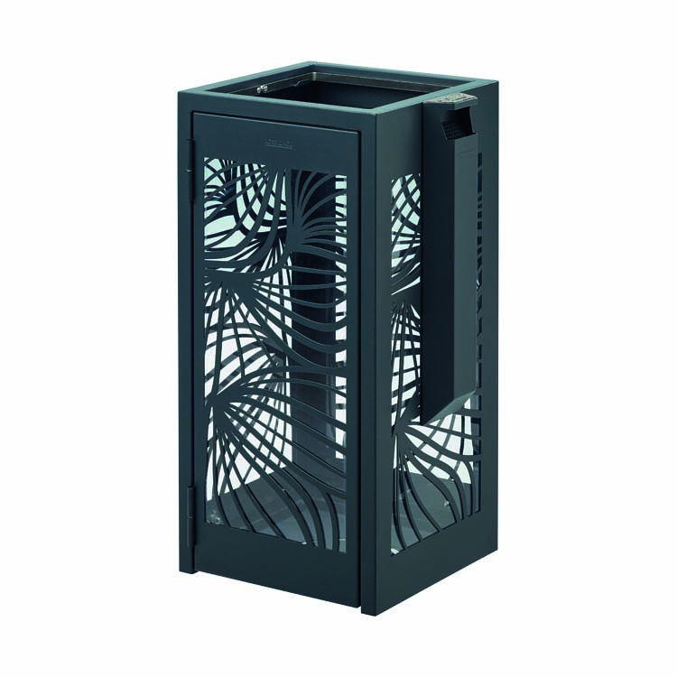 Corbeille Bella anti-nuisible anthracite 7016 110 litres - cendrier 1.5 l