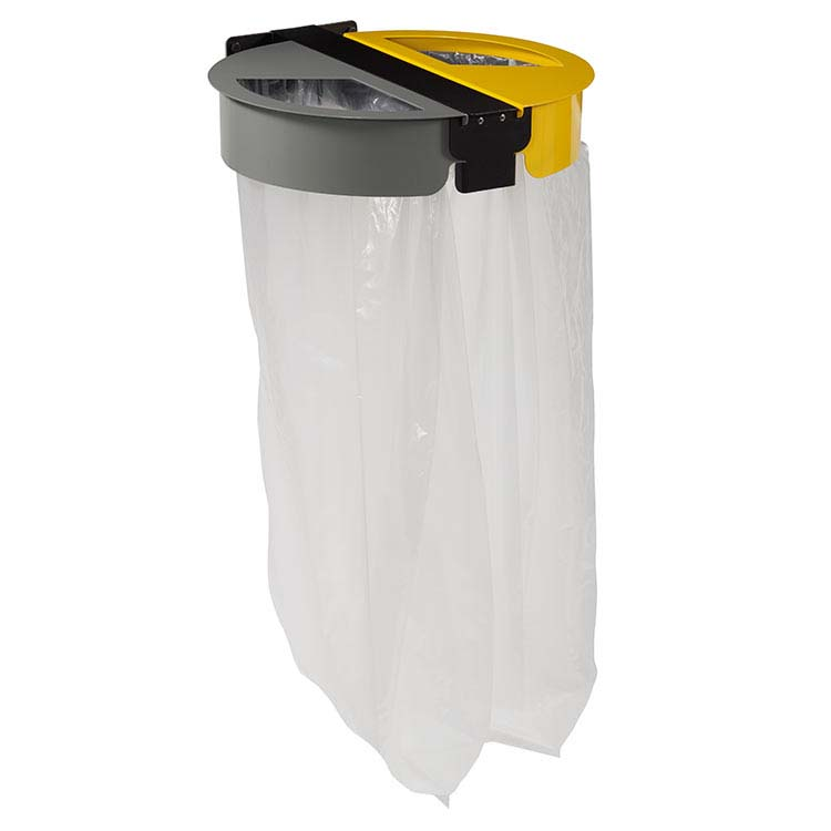 Support sac-poubelle Citwin premium 2x110L - gris/jaune