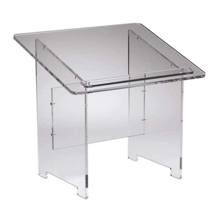 Pupitre de table transparent