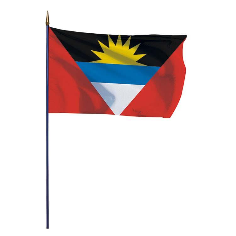 Drapeau Antigua et Barbuda sur hampe