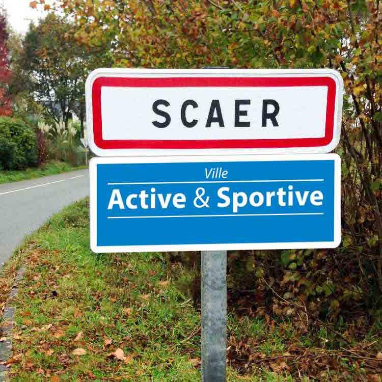 Panneau de signalisation pour Ville Active et Dynamique