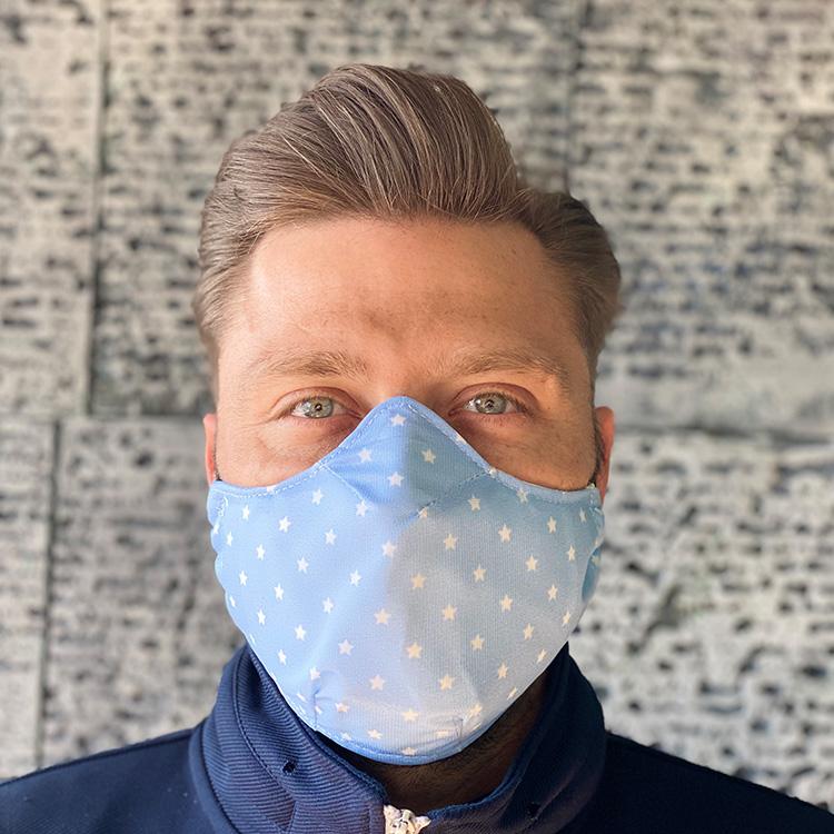 Masque tissu ColleKtor bleu ciel