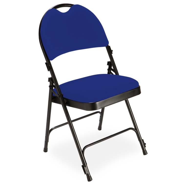 Chaise 2600 velours M1 bleu foncé