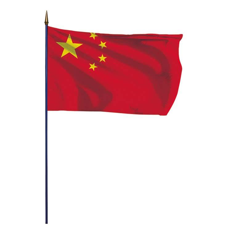 Drapeau Chine sur hampe