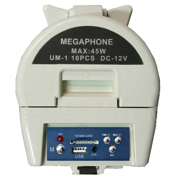Puissant mégaphone rechargeable