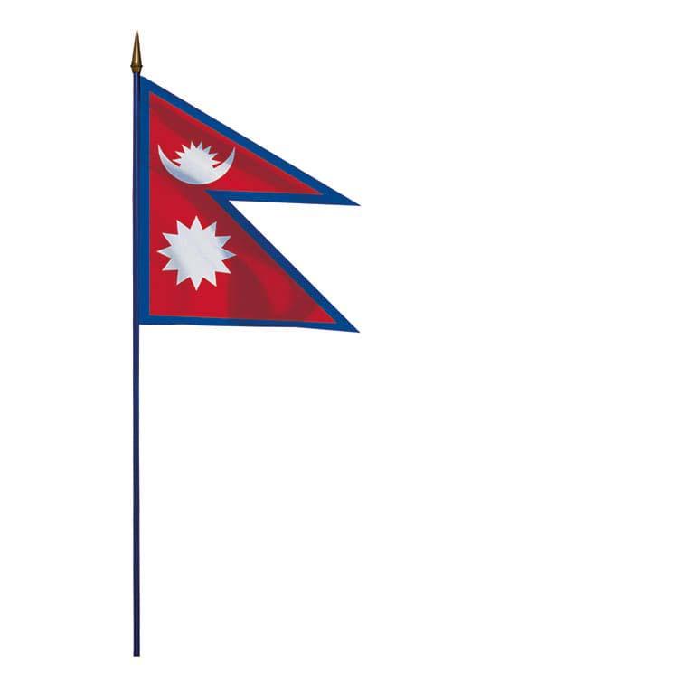 Drapeau Népal sur hampe
