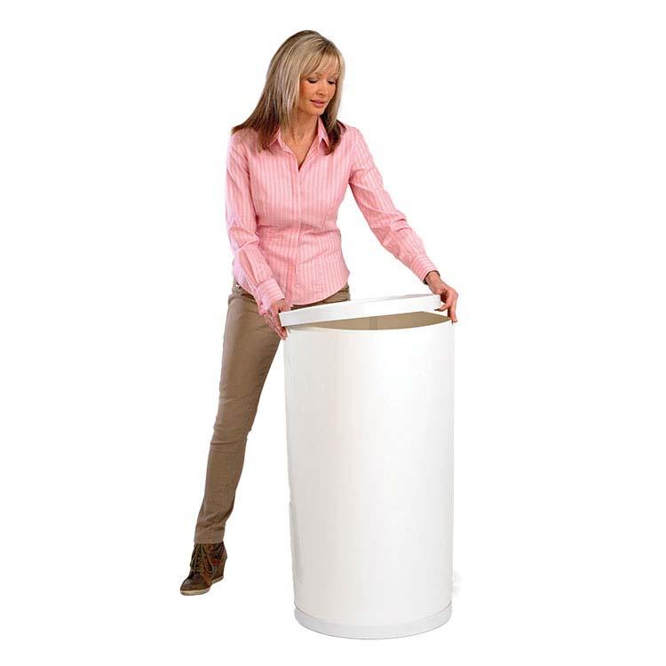 Totem cylindrique sans habillage