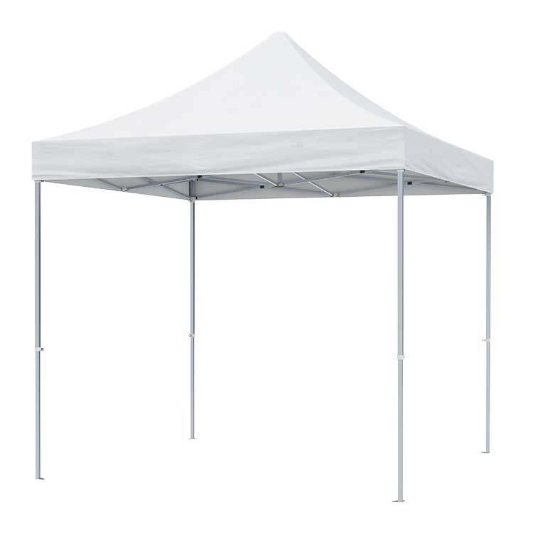 Tente pliante Pop up ouverte - Toile Polyester unie blanche