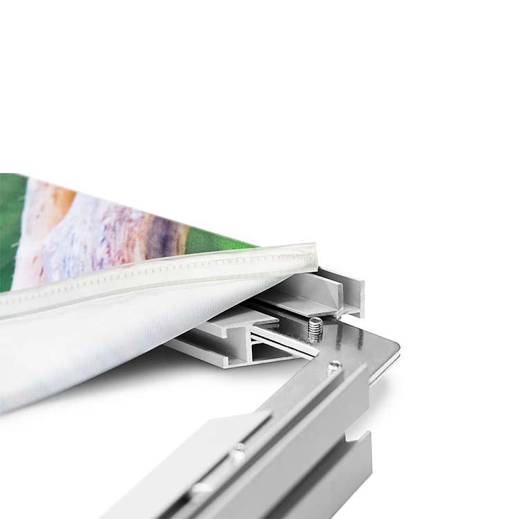 Cadre suspendu avec textile interchangeable