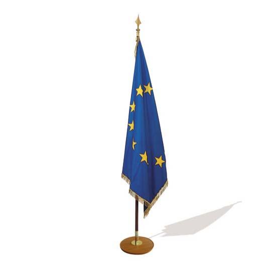Socle, hampe et drapeau d'intérieur