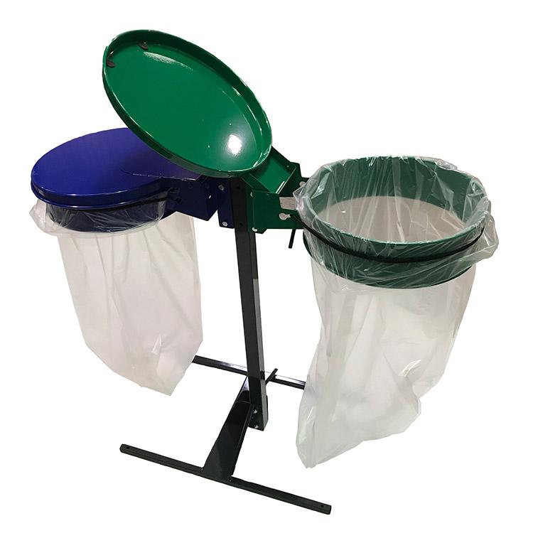 Support sac-poubelle Plain Double Flux détail sandow