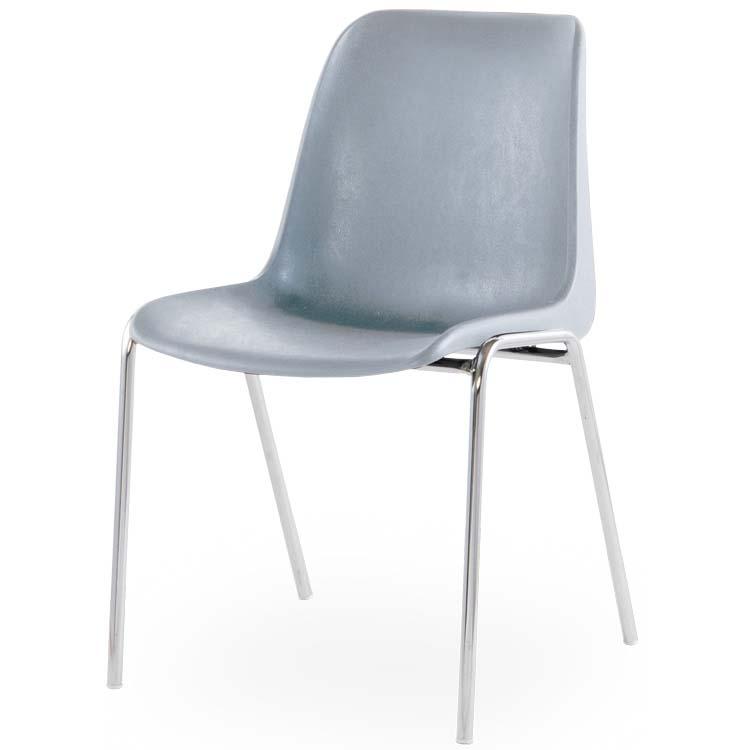Chaise Coque M4 gris clair
