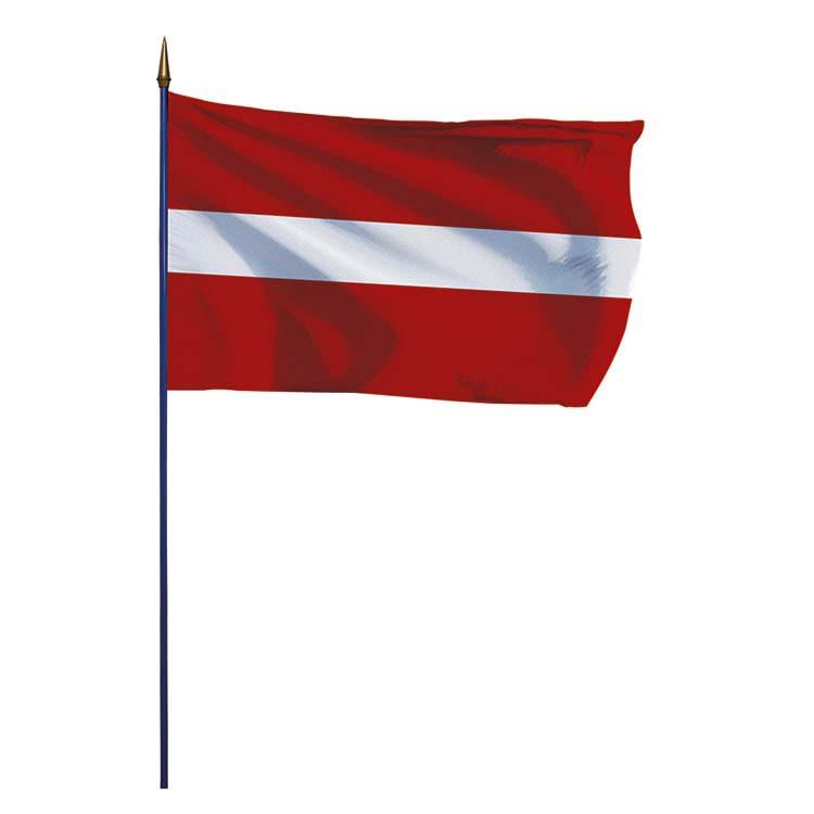 Drapeau Lettonie sur hampe