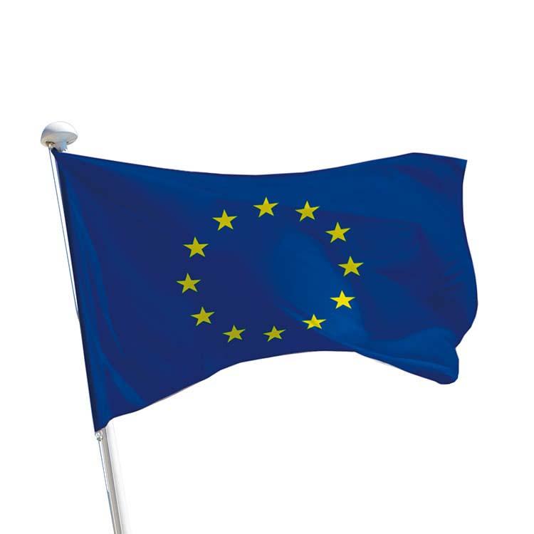Drapeau de l'Europe sur mât