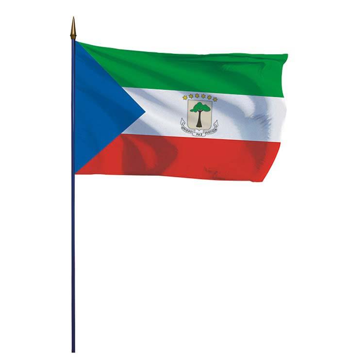 Drapeau Guinée Equatoriale sur hampe