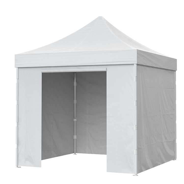 Tente pliante Titan fermée - Bâche PVC unie blanche