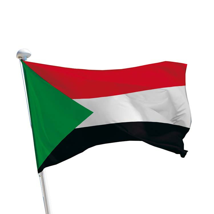Drapeau Soudan pour mât