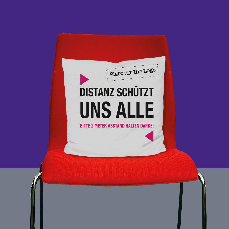 Stuhlkissen Distanz Logo