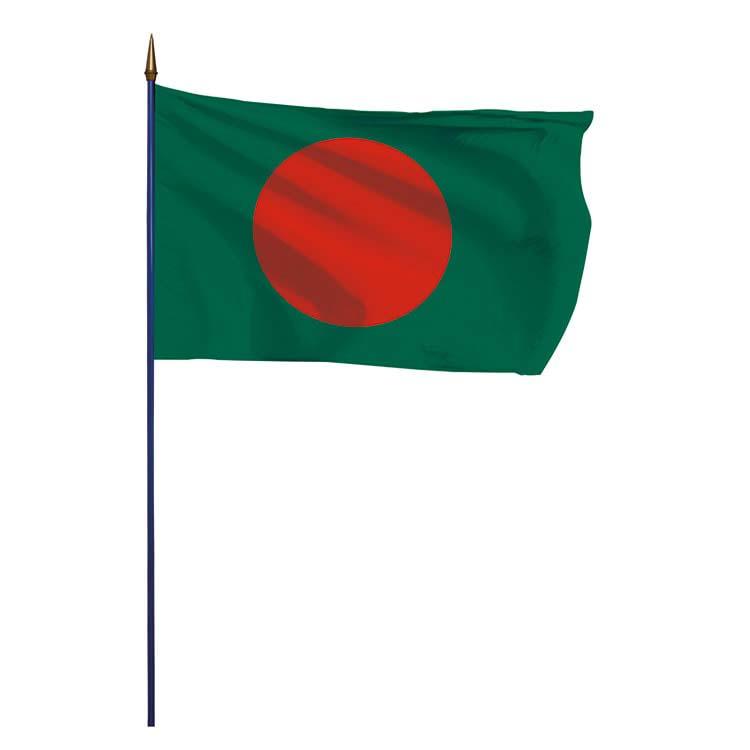 Drapeau Bangladesh sur hampe