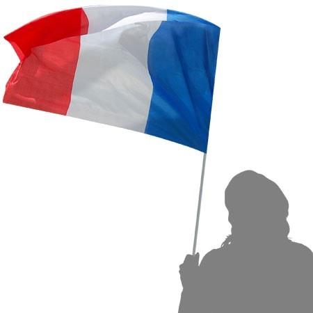 Drapeau français de supporter