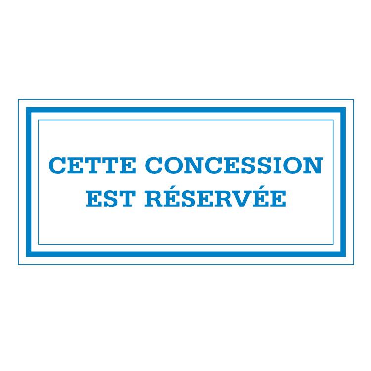 Concession réservée en bleu