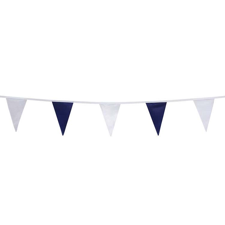 Guirlande tissu bleu et blanc