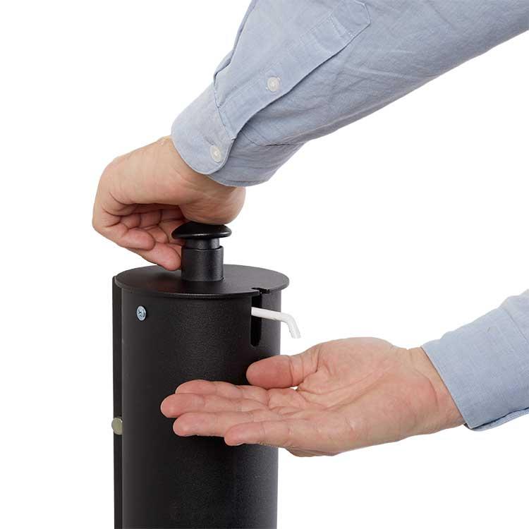 Distributeur Gel Hydroalcoolique adaptée aux PMR