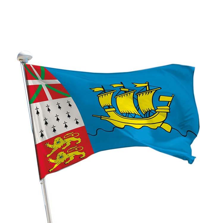 Drapeau province Saint-Pierre-et-Miquelon pour mât
