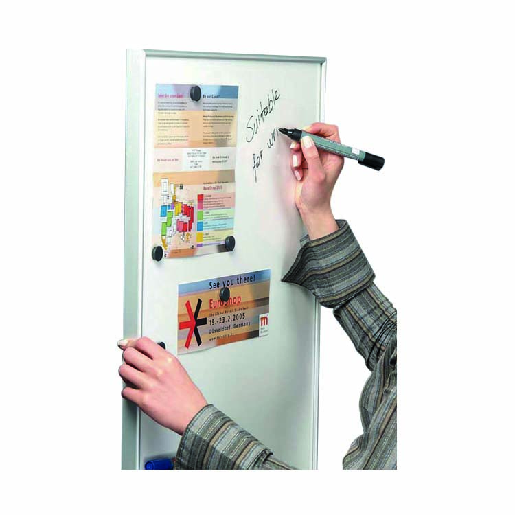 Panneau d'affichage blanc & magnétique