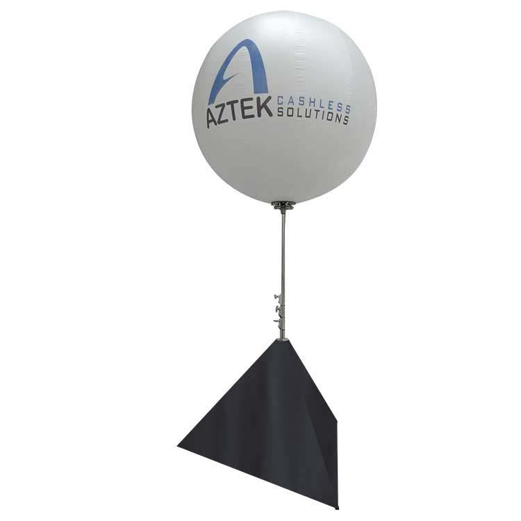 Ballon publicitaire lumineux sur perche