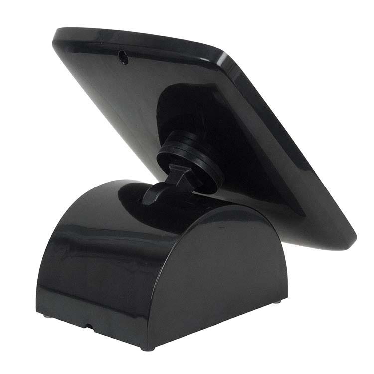 Borne d'accueil noire pour tablette numérique