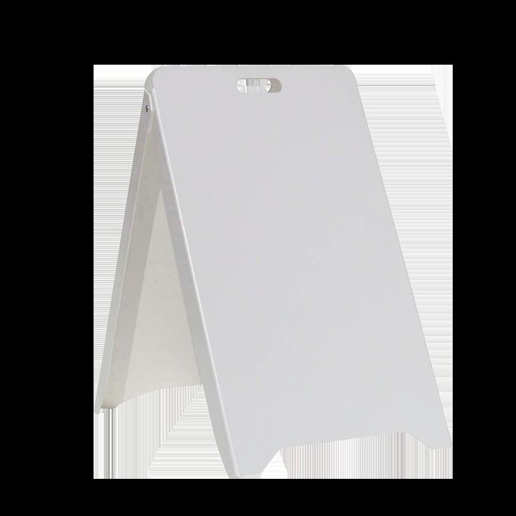 Chevalet en PVC Blanc pour écriture au feutre