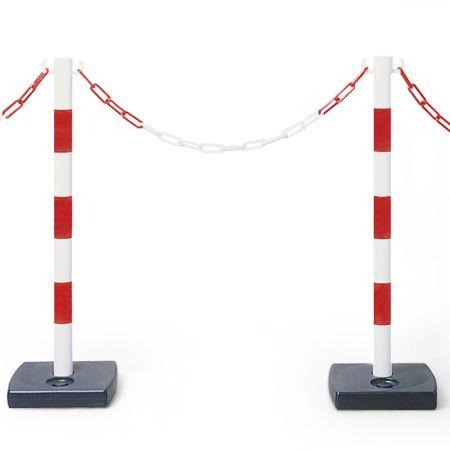 Poteaux signal sur une base lestable