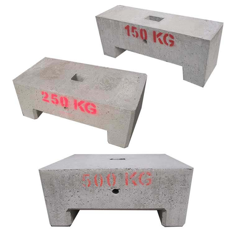 Lests béton grand format 150, 250, 500 kg