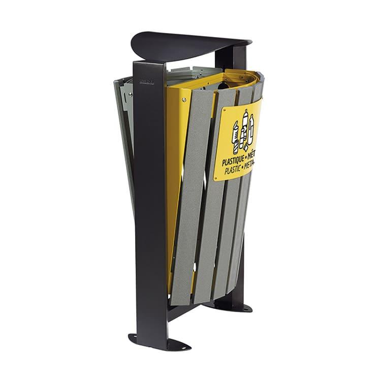 Support sac-poubelle Arkea Etik Jaune/gris - 2 x 60 L
