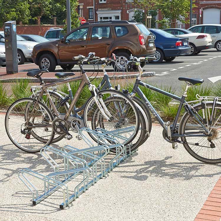 Rack à vélos Copenhague avec cycles