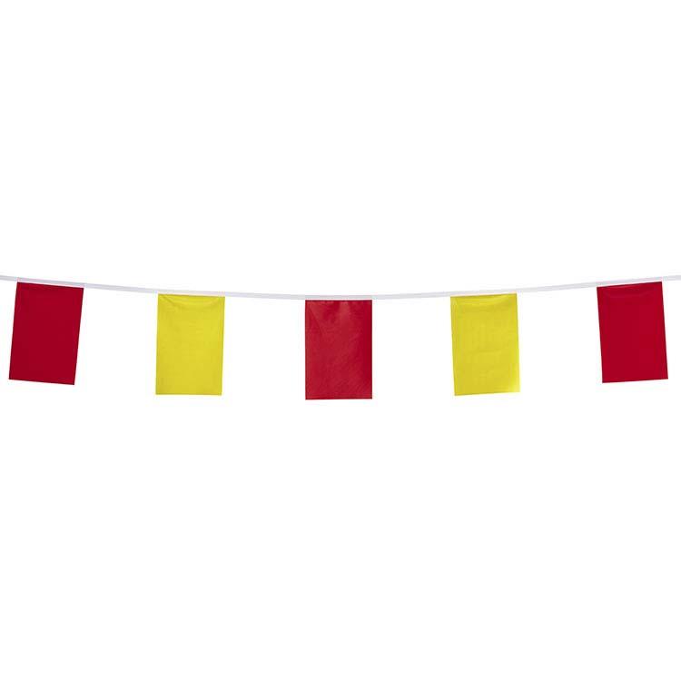 Guirlande tissu rouge et jaune