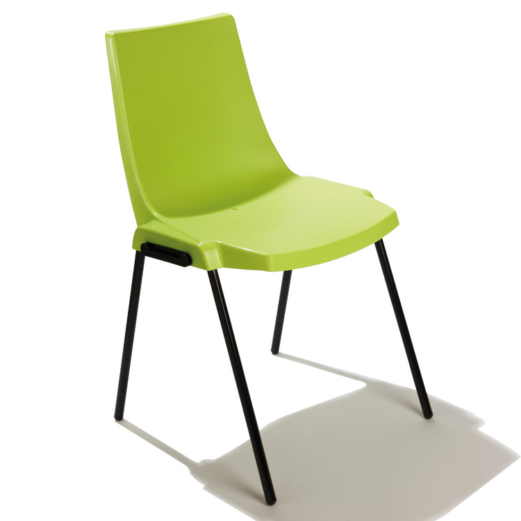 Chaise Coque'in verte