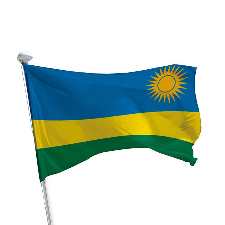 Drapeau Rwanda pour mât