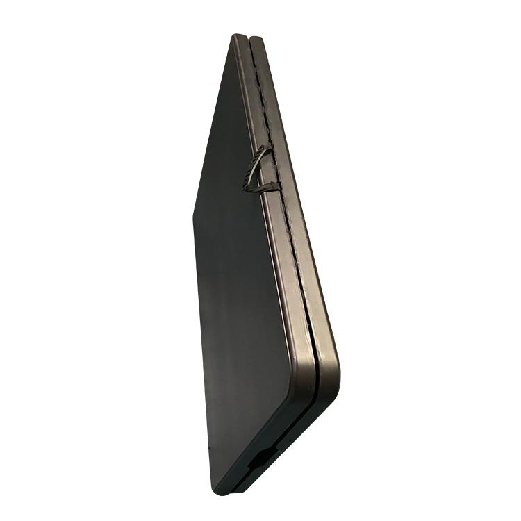 Table 183 cm en pehd noir pliante comme une valise doublet Bureau qui se referme