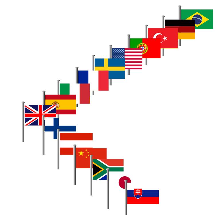 Flaggen der Welt grafisch