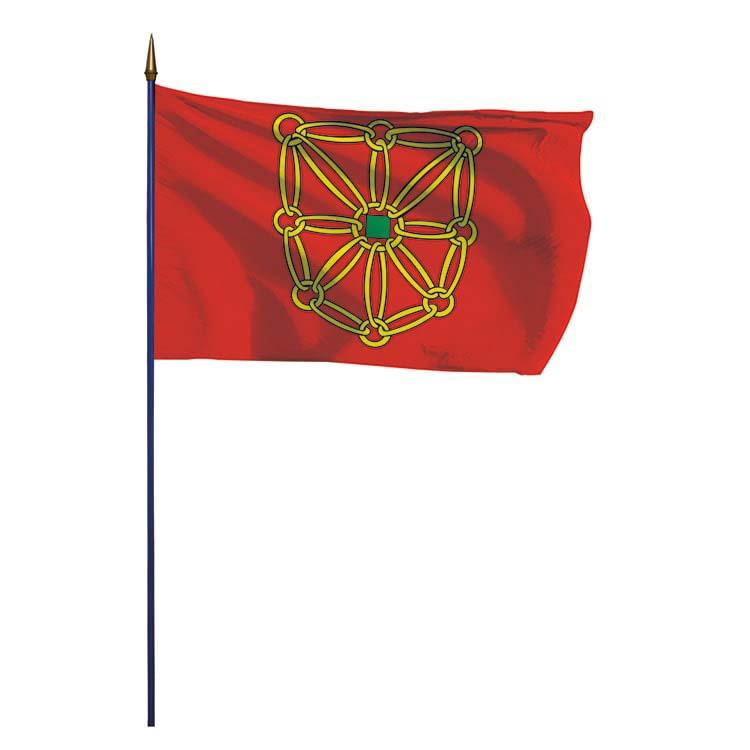 Drapeau de la province de Navarre sur hampe