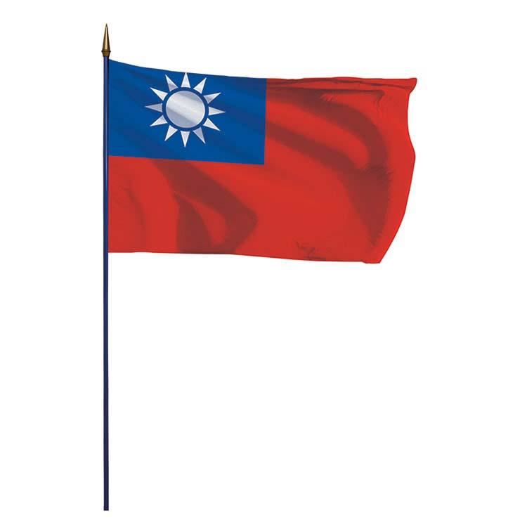 Drapeau Taïwan sur hampe