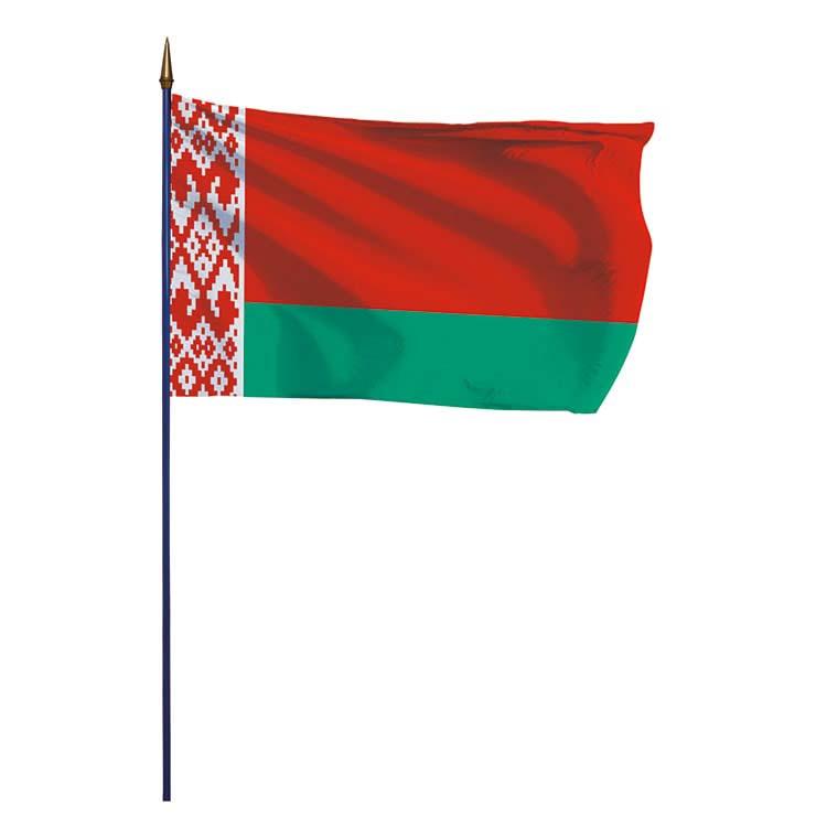 Drapeau Biélorussie sur hampe
