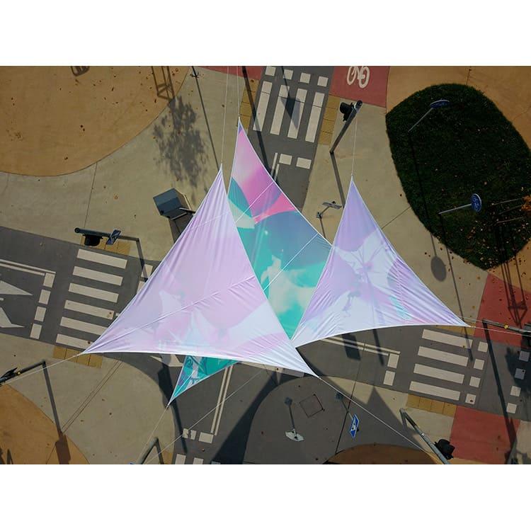 Voile d'ombrage triangulaire imprimée
